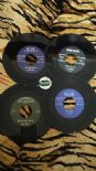45 RE ✦ RARE 50s ROCKABILLY LOT OF 4 REPROS ✦ D.Tacker, L.Miley, R.Hines, J.Lee